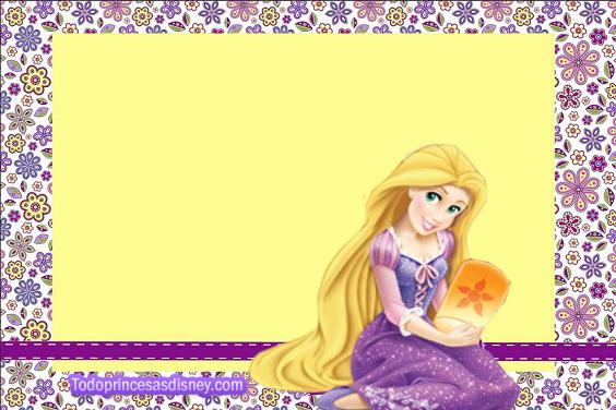 Tarjetas de Rapunzel - Etiquetas de Rapunzel - Imprimibles Rapunzel