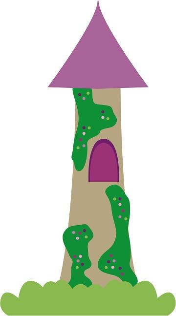 Castillo de Rapunzel moldes