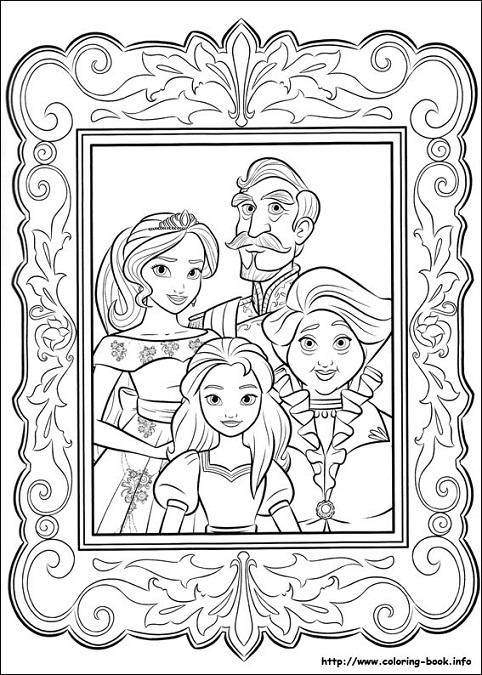 Dibujos de Elena de Avalor para imprimir y colorear | Princesas Disney