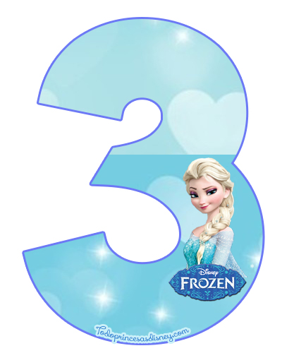 Numeros De Frozen Para Imprimir Princesas Disney